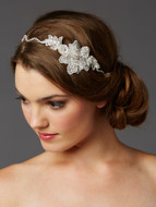 Lace and Preciosa Crystal Wedding Headband