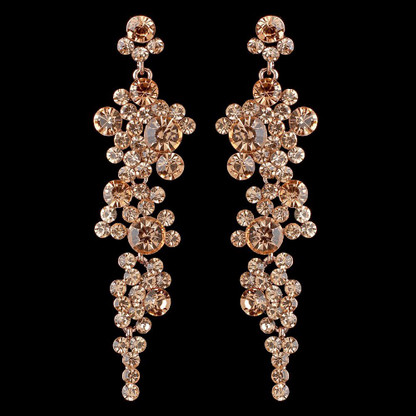beige media jewelry bridesmaid peach gifts earrings bridal gold champagne wedding