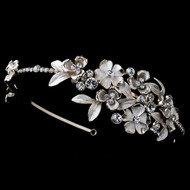 Gold and Ivory Flower Rhinestone Wedding Headband