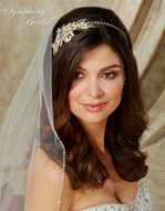 Gold or Silver Floral Headband Symphony Bridal 7713cr