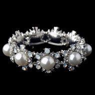 Pearl and Opal Crystal Wedding Bracelet