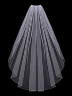 Crystal Beaded Fingertip Length Wedding Veil Envogue V600SF