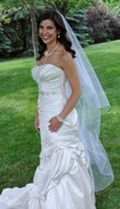 Two Layer Waltz or Walking Length Encasement Wedding Veil
