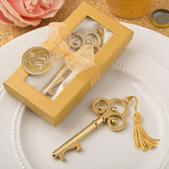 100 Gold Vintage Look Skeleton Key Bottle Opener Wedding Favors