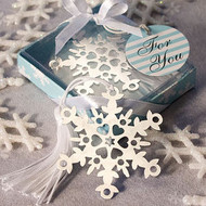 130 Snowflake Bookmark Winter Wedding Favors