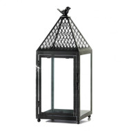 12 Large Black Bird Metal Lanterns for Wedding Decorations