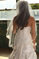 Lace Edge Elena Designs E1165S Fingertip Wedding Veil