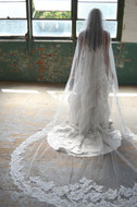 Lace Edge Elena Designs E1170L Cathedral Wedding Veil