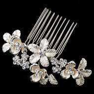 Light Gold Flower Petite Bridal Comb