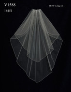 Custom Made Two Layer Waltz Length Wedding Veil V1588