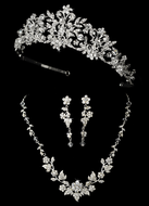 Majestic Crystal Wedding Tiara and Matching Jewelry Set