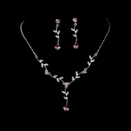 4 Sets Light Amethyst Floral Bridesmaid Jewelry