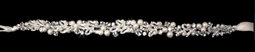 Pearl and Crystal Wedding Dress Ribbon Sash Belt