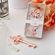 100 Rose Gold Vintage Skeleton Key Bottle Opener Wedding Favors-sale!
