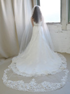 Royal Cathedral  Length Lace Elena Designs Wedding Veil E1183L