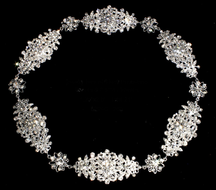 Floral Silver Plated Bridal Halo Circlet Headband 5224C