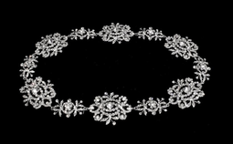 Silver Plated Bridal Halo Headband with Floral Morif 5222C
