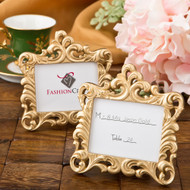 100 Gold Vintage Look Baroque Style Place Card Holder Favors