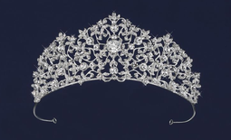 3 Peak Silver or Gold Plated Vine Wedding and Quinceanera Tiara