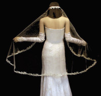 Beaded Lace Mantilla Full Circle Wedding Veil