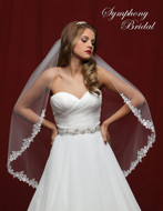 Delicate Lace Edge Wedding Veil Symphony Bridal 6814VL