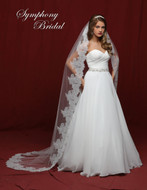 Chantilly Lace Chapel Wedding Veil Symphony Bridal 6841VL