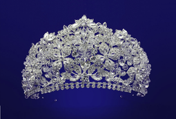 "Extraordinary 3"" Tall Crystal Quinceanera and Wedding Tiara"