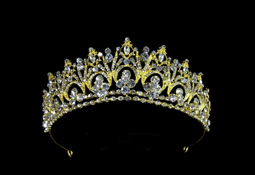 Gold Rhinestone Bridal and Quinceanera Tiara - sale!