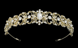 Light Gold Vintage Inspired Rhinestone Bridal Headband