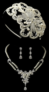 1920's Vintage Inspired Pearl Headband and Matching Jewelry Set