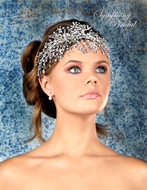 Elaborate Side Accent Headband Symphony Bridal 7934CR
