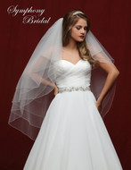 Four Layer Beaded  Fingertip Length Wedding Veil 6807VL