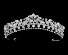 Dazzling Silver Plated Rhinestone Bridal and Quinceanera Tiara