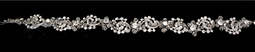 Rhinestone Swirl Ribbon Bridal Headband