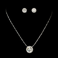 3 Sets Rhinestone Pendant Bridesmaid Jewelry
