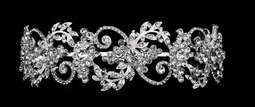 Lavish Rhinestone Swirl Wedding Headband in Silver or Gold