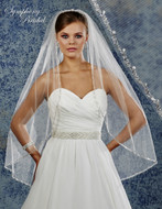 Beaded Edge Wedding Veil Symphony Bridal 6915VL