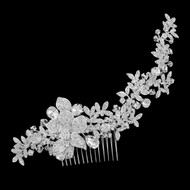 Stunning Crystal and Rhinestone Floral Bridal Comb