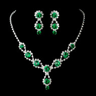 4 Sets Emerald Green Bridesmaid Jewelry
