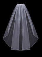 Clear Crystal Beaded Fingertip Length Wedding Veil Envogue V406SW