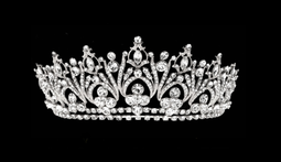 Silver Rhinestone Bridal and Quinceanera Tiara - sale!