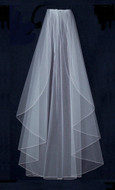 Angel Cut Extra Full Knee Length Wedding Veil - Many Colors!