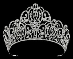"3 1/2"" High  Rhinestone Wedding and Quinceanera Tiara T56947"