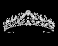 Enchanting Silver Plated Rhinestone Bridal Tiara