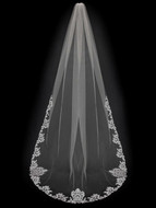 Exquisite Partial Embroidery Cathedral Length Wedding Veil