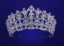 "2 1/2"" Tall Rhinestone Wedding and Quinceanera Tiara hp55795 - sale!"