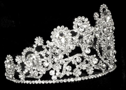"3 1/2"" Tall  Wedding and Quinceanera Tiara hp4350 -Sale!"