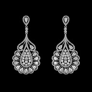 Unique Cubic Zirconia Silver Plated  Wedding and Formal Earrings