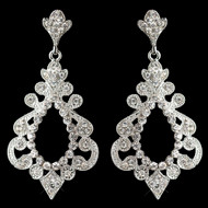 "3"" Long Dramatic Rhinestone Wedding and Formal Earrings"