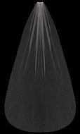 Crystal and Rhinestone Scatter Cathedral Length Wedding Veil